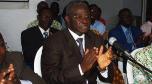 Le camarade, le ministre Eric Kahe, président de l'AIRD