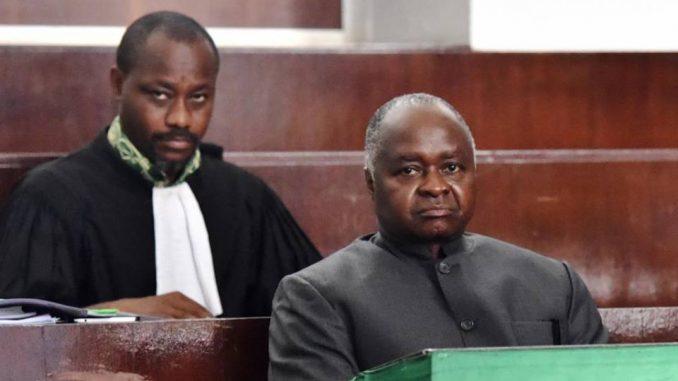 Le ministre Hubert Oulaye, lors de son procès à Abidjan en décembre 2017