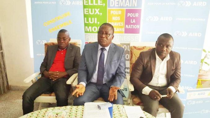Le vice-président Georges Temanin, assurant l'intérim de la présidence du parti a animé ce point de presse sur la CEI