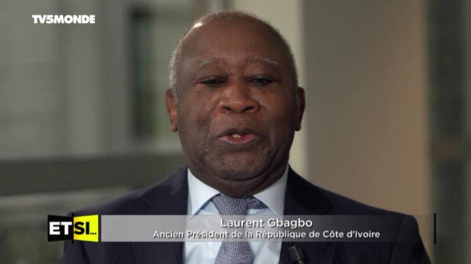 Laurent Gbagbo, lors de son entretien sur TV5